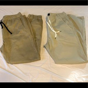 2 Pair American Eagle Outfitters Khaki Joggers